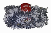 Decorative Die Cut Garland Silver With White Snowflakes