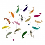 Fair Trade Eco Friendly Paper Whale Garland, Handcrafted in Nepal