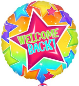 Welcome Back Stars 43cm Mylar Balloon Bulk