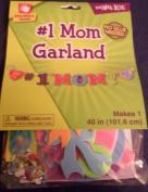 Fibre Craft sm'ART Kit #1 Mom Garland Craft, No Glue Needed 100cm