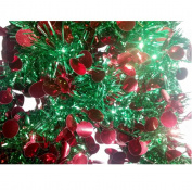 Shiny Green And Red Ball Garland Die Cut