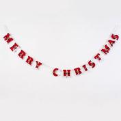 One Hundred 80 Degrees Santa Belt Christmas Felt Pennant Garland