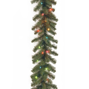 National Tree 2.7m x 25cm Kincaid Spruce Garland with 50 Multi Lights