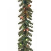 National Tree 2.7m x 25cm Kincaid Spruce Garland with 50 Multi Lights