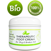 All Natural Shea Butter Moisturising Foot Cream for Dry and Cracked Feet – Foot Care Lotion for Cracked Heels – Ultra- Hydrating Cream with Coconut Oil and Jojoba for Men and Women – 120ml – By HoneyDew