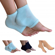 Medipaq Moisturising Gel Spa Socks - Alleviates Pain And Absorbs Shocks - Walk Comfortably Again! 2X Pairs - Light Aqua