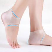 Plantar Fasciitis Heel Sleeve for Foot Pain Relief – Soft Gel Moisturising Sock for Dry Heels
