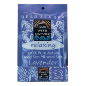 One With Nature - 100% Pure Active Dead Sea Minerals Salts Relaxing Lavender - 70ml