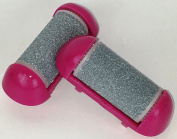 #1 BEST Hand Held Mini Pedicure Callus Remover Replacement Roller Heads (2). Only Fits Drs ProChoice Pink Mini Callus Remover