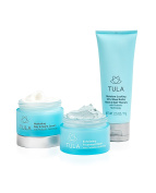 TULA Holiday Hydration Kit with Probiotic Technology - Full Size Set with Day & Night Cream, Exfoliating Mask, and Hand & Nail Therapy for Hydrating Moisturization