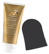 Hamptons Glow Tan, Tone and Tighten Self Tanning Crème Value Bundle, Includes Self Tanning Mitt