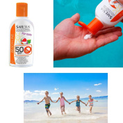 1 Kids SafeSea UVA UVB Sunscreen Jellyfish Sting Protection SPF50 Lice Lotion !