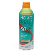 NO-AD Kids Continuous Spray Sunscreen, SPF 50 10 fl oz