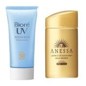 Biore KAO AQUA RICH SPF50 Sunscreen & Shiseido Anessa Perfect Sunscreen SPF50