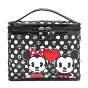 LONDON SOHO NEW YORK Disney Collection Mickey and Minnie Emoji Cosmetic Train Case