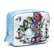 LONDON SOHO NEW YORK Disney Collection Alice In Wonderland Organiser Cosmetic Bag, Alice and Cheshire Cat
