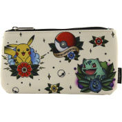 Loungefly Pokemon Tattoo Coin/Cosmetic Bag Beige