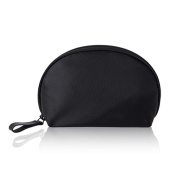 Shell Cosmetic Bag - Small Waterproof Portable Environmental Nylon Semicircle Handbag as Toiletry Bag,Digital Bag,Stationery Bag for Business Trip, Travel, Outdoor Sightseeing