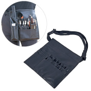 Professional Makeup Artist Tool Belt, Cosmetics Organiser with Zippered Pockets and Brush Holders
