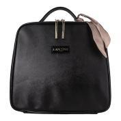 Lanc0me Black Train Case Cosmetic Makeup Travel Bag