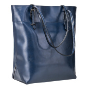 S-ZONE Vintage Genuine Leather Tote Shoulder Bag Handbag Big Large Capacity