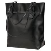 S-ZONE Vintage Genuine Leather Tote Shoulder Bag Handbag Big Large Capacity