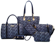 Womens 6 Pcs Shoulder Bags Top-Handle Handbag Tote Purse Set