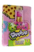 NEW! Shopkins Blanket SUPER SOFT Travel Blanket