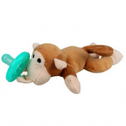 SORCO Infant Baby Doll Plush Pacifier Animal Toy Monkey