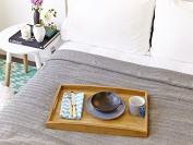 Eshma Mardini Turkish Cotton Quilt Bed Spread Blanket Bed Cover for All Season 250cm x 200cm - Black