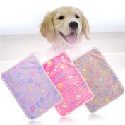 JIEPING Beautiful Safety Non Slip Backing Durable Pet Paw Print Mat 7652cm & Khaki