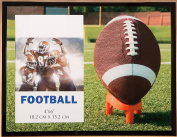Glass Football Themed Picture Frame