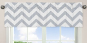 Grey and White Chevron Collection Zig Zag Window Valance
