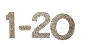 7.6cm Gold Gllitter self-adhesive Heavy Chipboard Table Numbers for Wedding / Banquets
