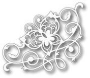 Tutti Designs Thin Metal Die - Flourish Butterfly Corner - Tutti-179