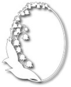 Tutti Designs Thin Metal Die - Lily of the Valley Frame - Tutti-172
