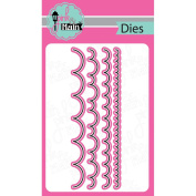 Pink And Main Dies-Scallop Border, 4/Pkg