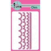 Pink And Main Dies-Scallop Border, 4/Pkg