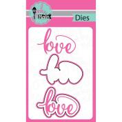 Pink And Main Dies-Love, 2/Pkg