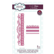 Craft Die CED6408 Sue Wilson Configurations Collection - Striped Swirl Edger