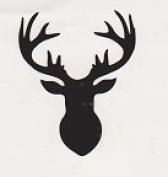 Deer Head Silhouette Woodland Black Vinyl Decal for Cup Car Wall Window Laptop