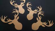 Deer Head Silhouette Die Cuts Gold Shimmer 8pc