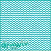 CHEVRON STRIPES PATTERN #1 Aqua & White Craft Vinyl 3 Sheets 6x6 for Vinyl Cutters