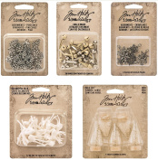 Tim Holtz 2016 Christmas - Pinecones, Snowflakes, Woodland Mini Tree Lot, Decorative Deer & Jingle Brads idea-ology Bundle