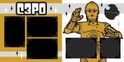 """C3PO"" Scrapbook Kit"