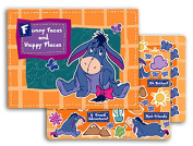 """Disney Winnie the Pooh's Eeyore """"Funny Faces and Happy Places"""" Scrapbook Kit"""