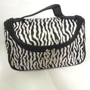 Mintbon Fashion Zebra Pattern Black White Lady Women Girls Makeup Bag Women Portable Cosmetic Toiletry Bags Travel Storage Organiser