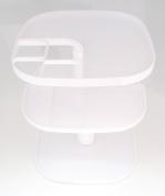 Spinning 3 Tier Cosmetic/Desk Organiser - White - .