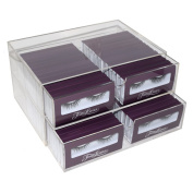 Two Drawer Clear Acrylic Makeup Organiser Case
