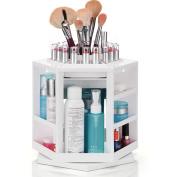 Zabrina 360 Degree rotating cosmetics Storage Organiser Spinning Makeup Organiser Acrylic Cosmetics Tower